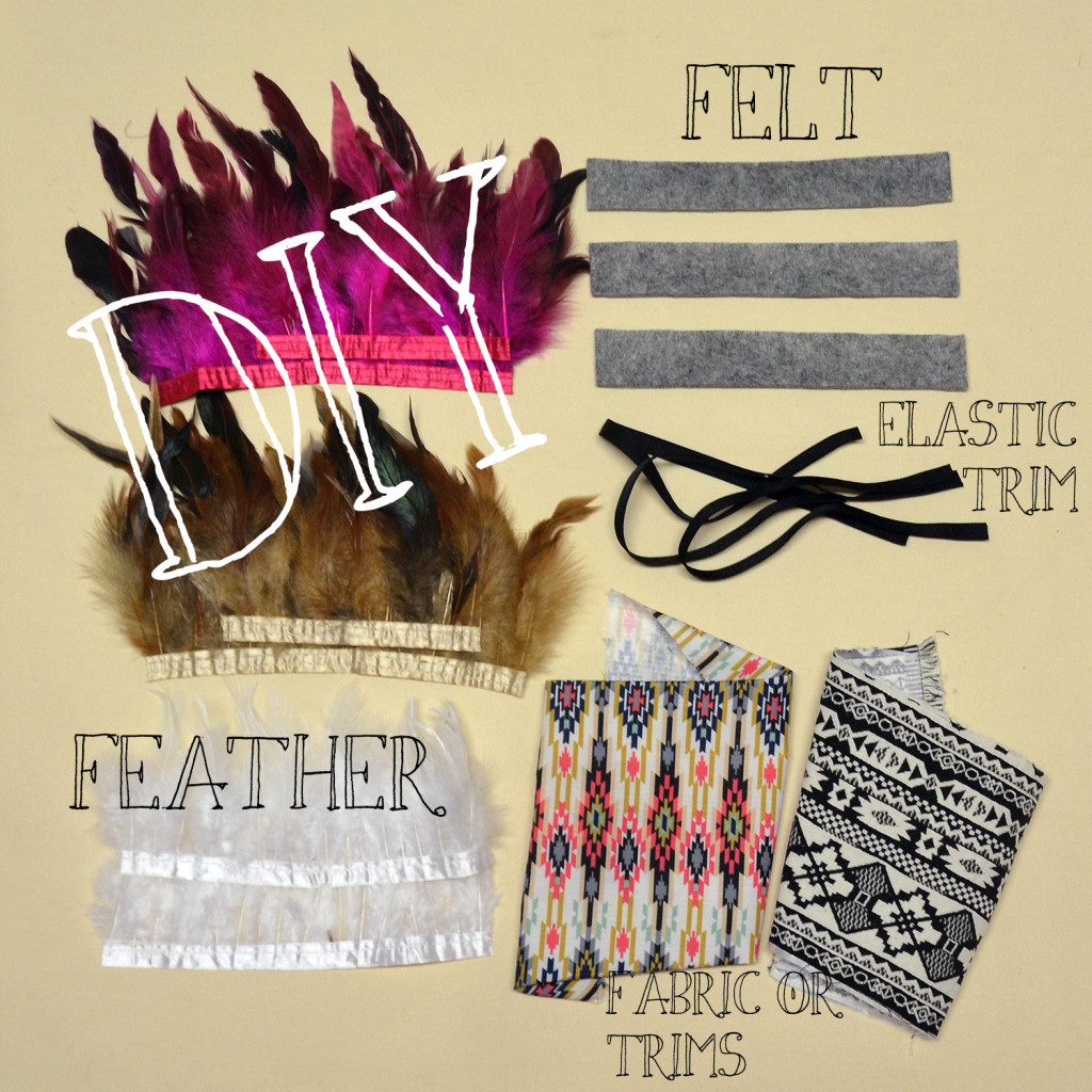 Materials for feather headband