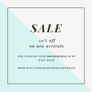 Design x Travel sale on Etsy